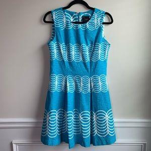 Just Taylor blue textured sleeveless dress size 4
